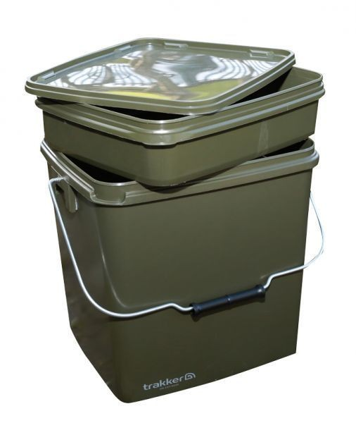 Trakker 13 Ltr Olive Square Container, Eimer 13 Liter