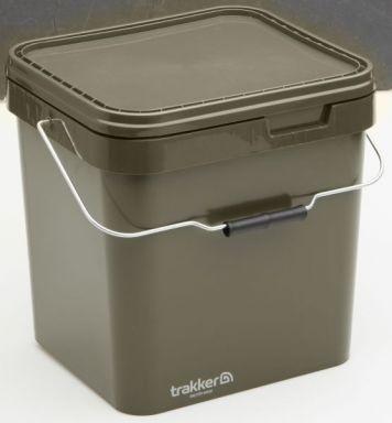 Trakker 17 Ltr Olive Square Container, Eimer 17 Liter