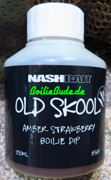 Nashbait Amber Strawberry Boilie Dip 250ml