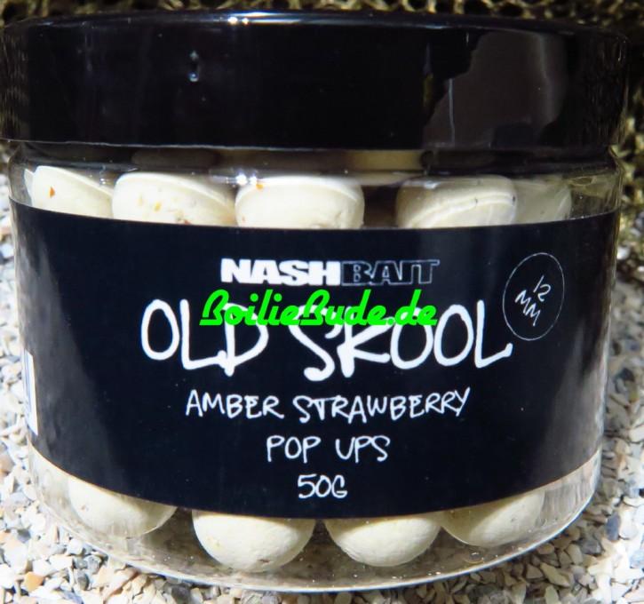 Nashbait Amber Strawberry Pop Up´s 12mm, 50gr.