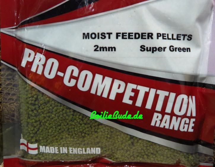Bag`em Super Natural Green Moist Feeder Pellets 2mm, 700gr