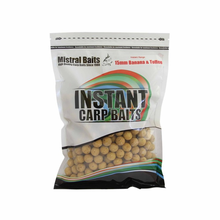 Mistral Baits Banana & Toffee Boilies