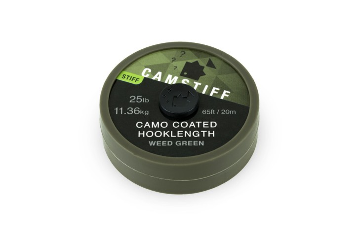 Thinking Anglers Camstiff Hooklength 25lbs / Camo Weed Green
