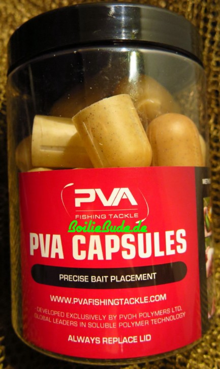 PVA Fishing Tackle Capsules Chilli, 20 Stück