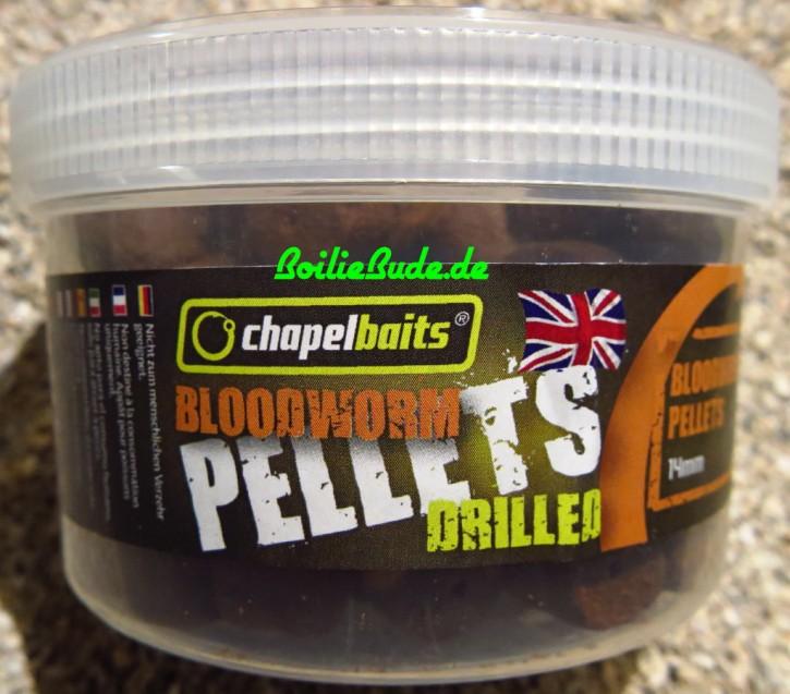Chapel Baits Bloodworm Drilled Pellets 14mm, 400ml