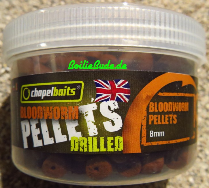 Chapel Baits Bloodworm Drilled Pellets 8mm, 400ml