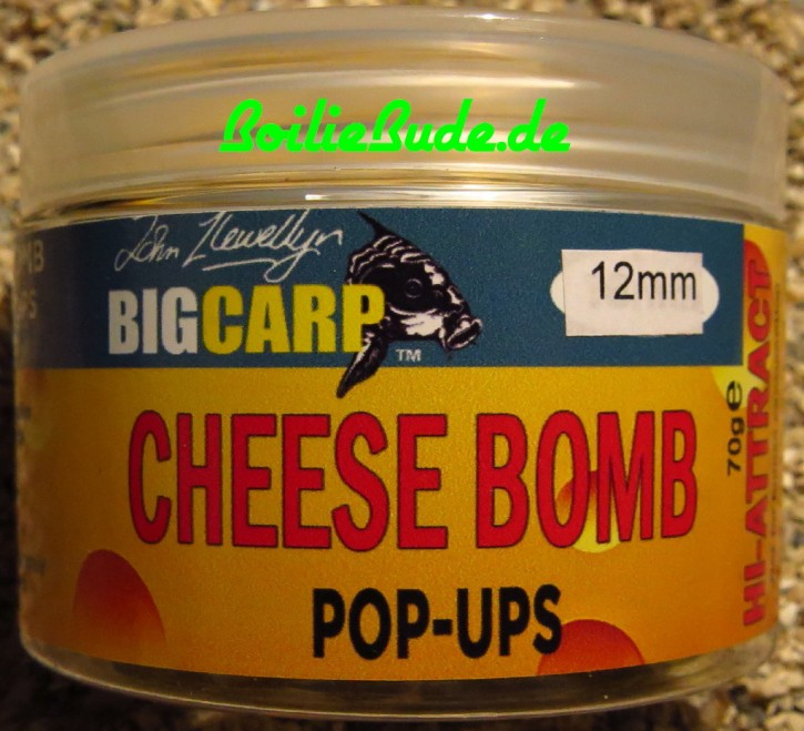Big Carp Cheese Bomb Pop Ups 12mm