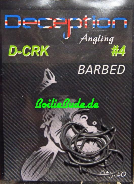 Deception Angling D-CRK Haken Größe 4 mit Widerhaken