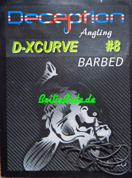 Deception Angling D-XCurve Haken Größe 8 mit Widerhaken