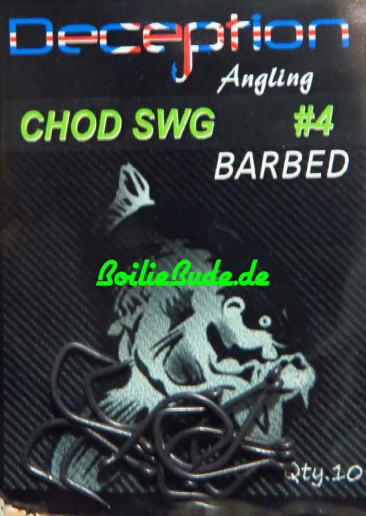 Deception Angling D-SWG Chod-Haken mit und ohne Widerhaken