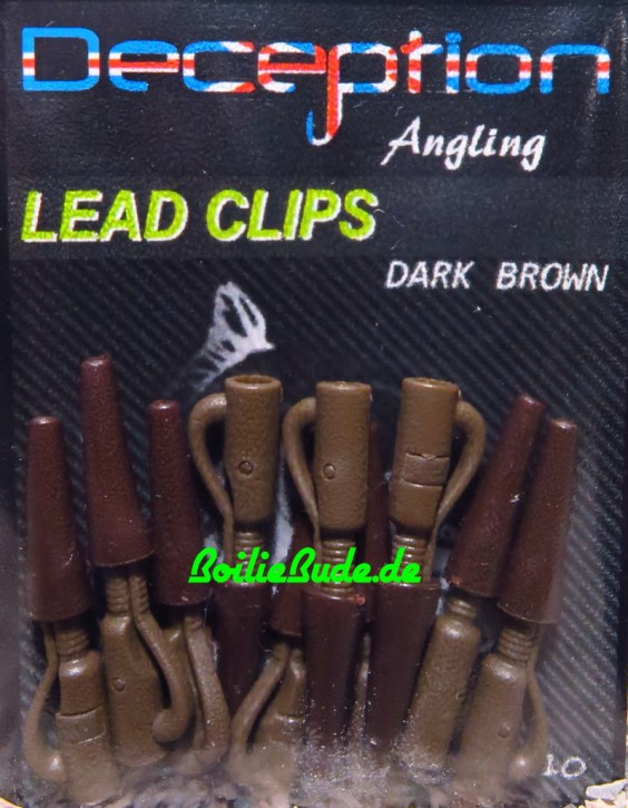 Decpetion Angling Lead Clip Dark Brown plus Tailrubber