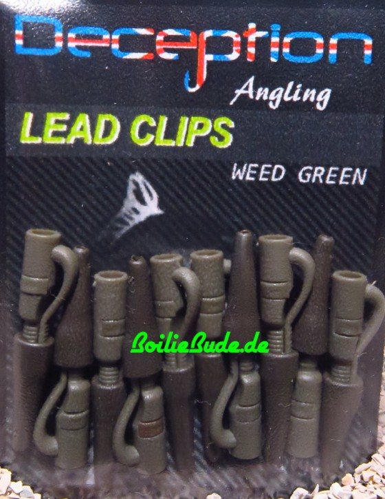 Decpetion Angling Lead Clip Weed Green plus Tailrubber
