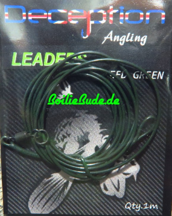 Deception Angling Leader Green 1m