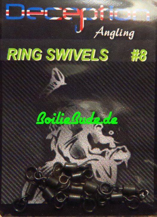 Deception Angling No.8 Ring Swivels, 10 Stück