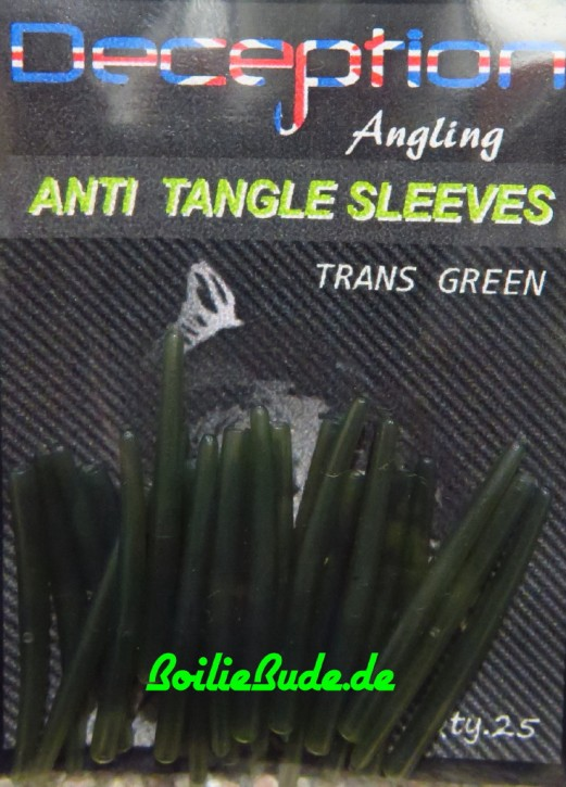 Deception Angling Anti Tangle Sleeves Trans Green