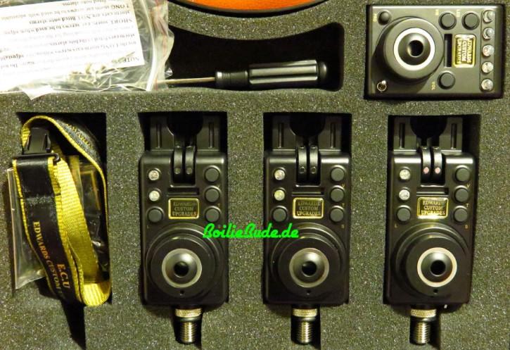 E.C.U. Compact Mk 1 Bissanzeiger 3er Set + Funkbox Ampelfarben