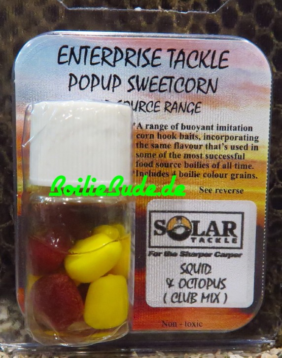 Enterprise Tackle Pop Up Corn Yellow/Brown, Solar Squid & Octopus