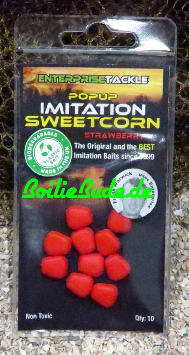 Enterprise Tackle Pop Up Sweetcorn Red - Strawberry