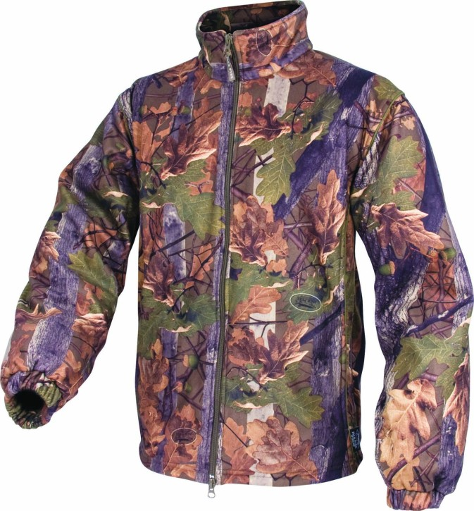 Jack Pyke Fleece Jacket in English Oak Camo