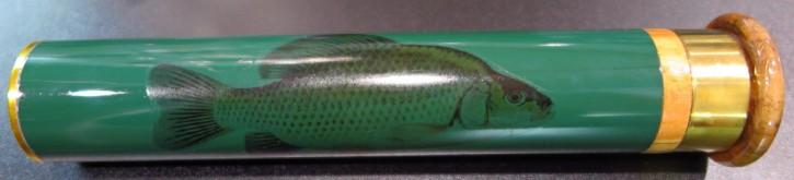 Float Tube mit Karpfen-Motiv, Posenbox