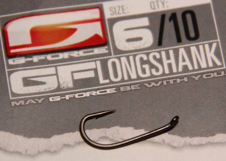 G-Force Tackle LongShank Haken mit Widerhaken