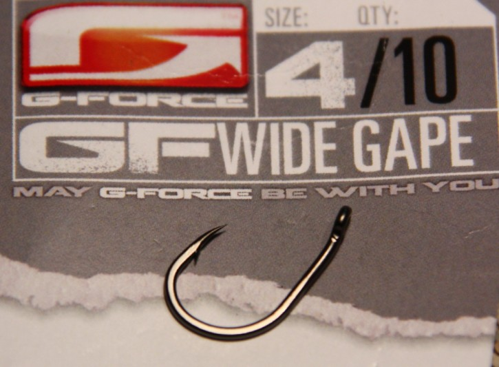 G-Force Tackle Wide Gape Haken mit Widerhaken