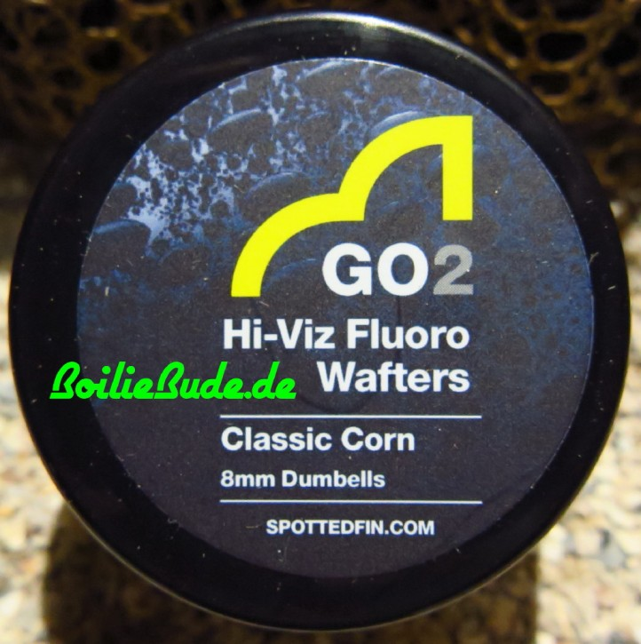 Spotted Fin GO2 Hi-Viz Fluoro Classic Corn Wafter Dumbell 8mm, 30gr
