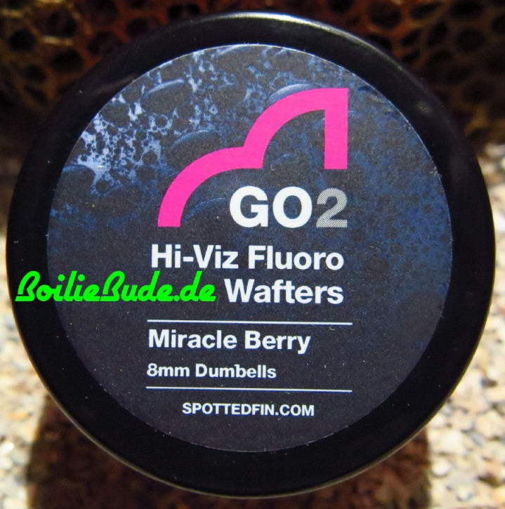 Spotted Fin GO2 Hi-Viz Fluoro Miracle Berry Wafter Dumbell 8mm, 30gr