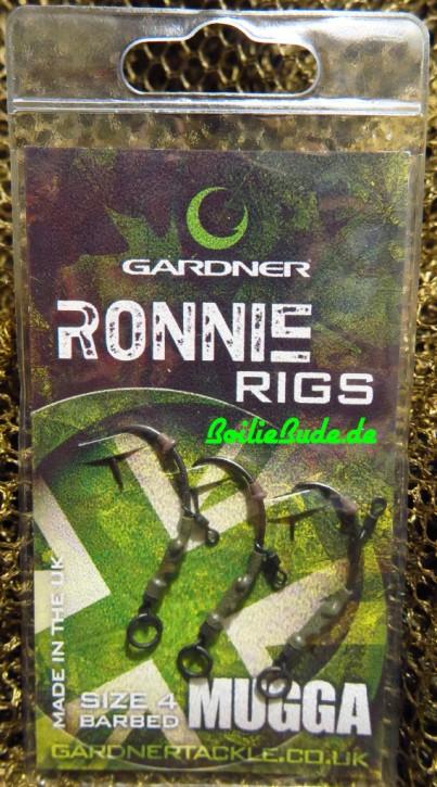 Gardner Tackle Ronnie Rigs Hakengröße 4 / Barbed (mit Widerhaken)