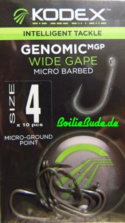 KODEX GenomicMGP Wide Gape Hakengröße 4 / Barbed (mit Widerhaken)