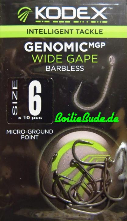 KODEX GenomicMGP Wide Gape Hakengröße 6 / Barbless (ohne Widerhaken)