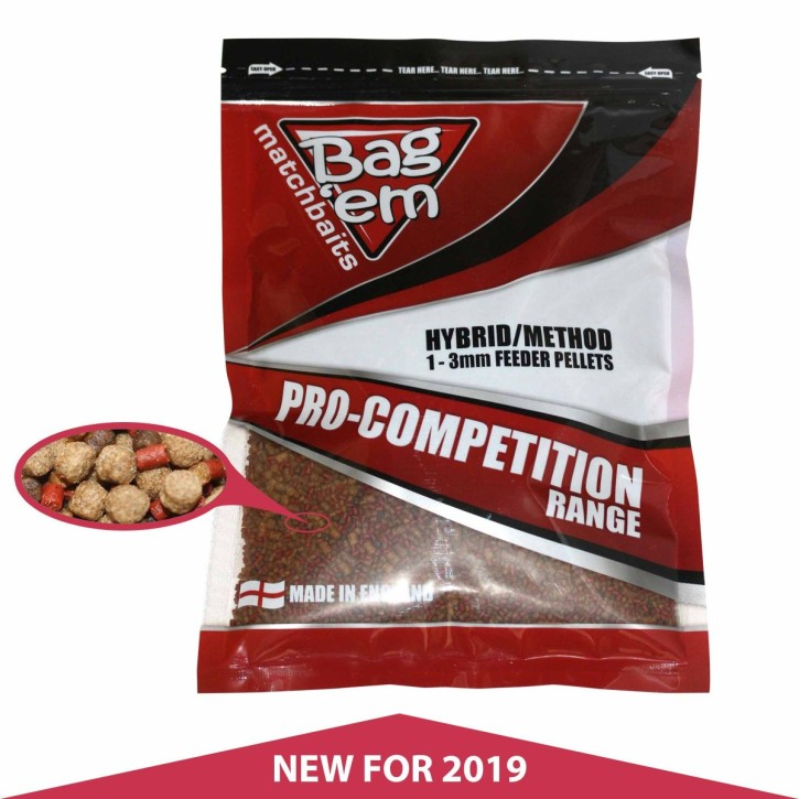 Bag`em Pro Competition Hybrid Methodfeeder Pellet, 700gr