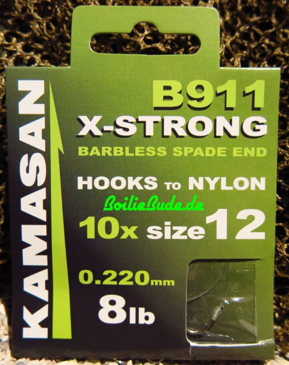 Kamasan B911BX X-Strong Barbless Vorfachhaken