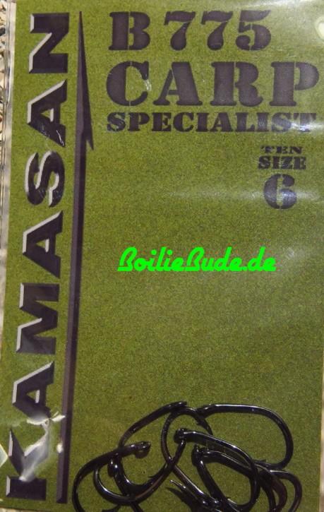 Kamasan Carp Specialist Hook B775 Barbed, Hakengröße 6 / Barbed (mit Widerhaken)