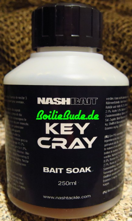 Nashbait Key Cray Liquid Bait Soak 250ml