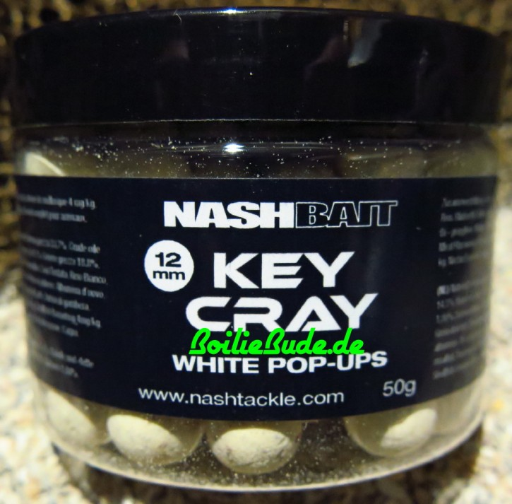 Nashbait Key Cray White Pop Up´s 12mm, 50gr.