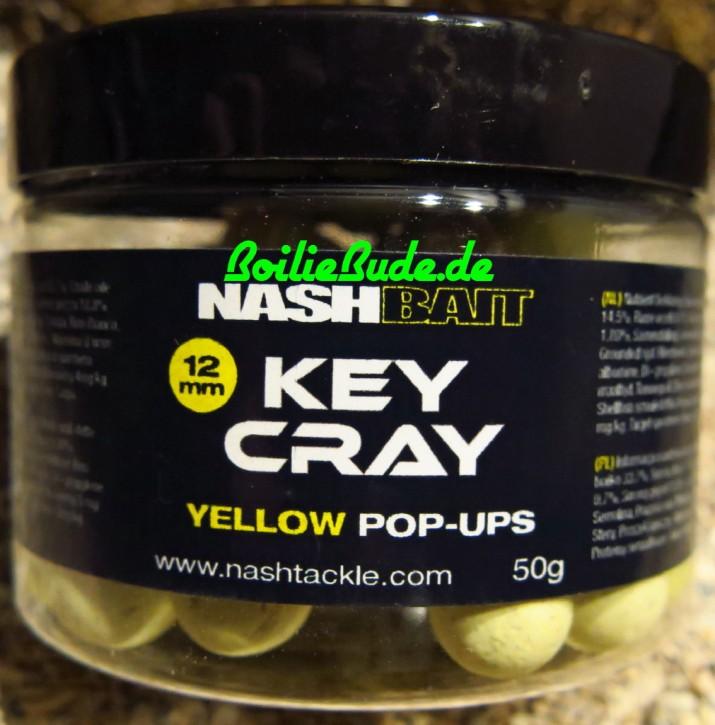 Nashbait Key Cray Yellow Pop Up´s 12mm, 50gr.