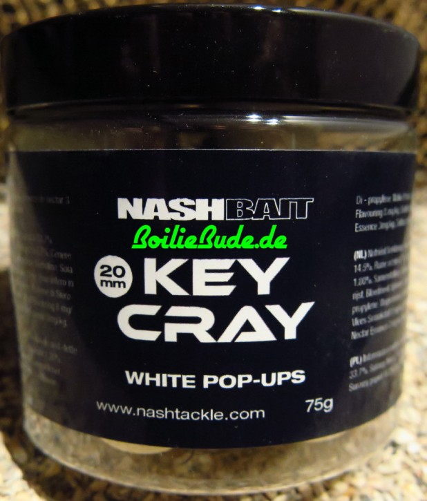 Nashbait Key Cray White Pop Up´s 20mm, 75gr.