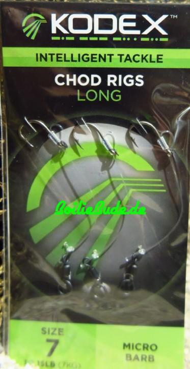 KODEX Long Chod Rigs, Größe 7, 15lb Stärke