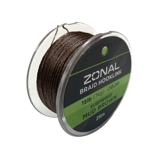 KODEX Zonal Submerge Rig Braid Mud Brown 15lb, 25m-Spule