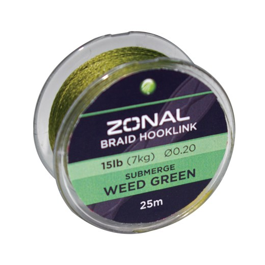 KODEX Zonal Submerge Rig Braid Weed Green 15lb, 25m-Spule