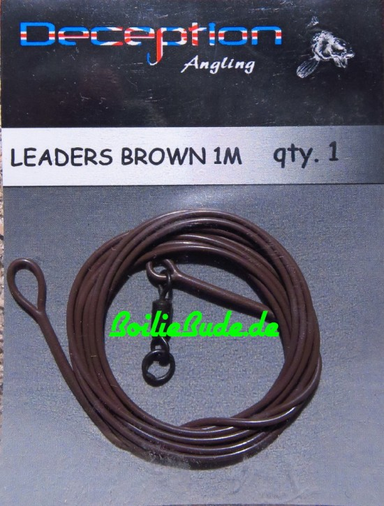 Deception Angling Leader Brown 1m