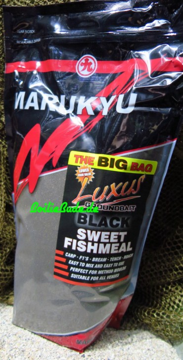 Marukyu Luxus Black Sweet Fishmeal Groundbait, 2Kg