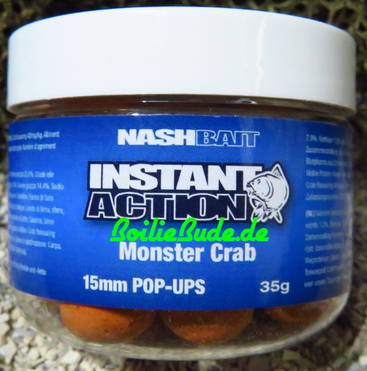 Nashbait Instant Action Monster Crab Pop Up´s 15mm, 35gr.