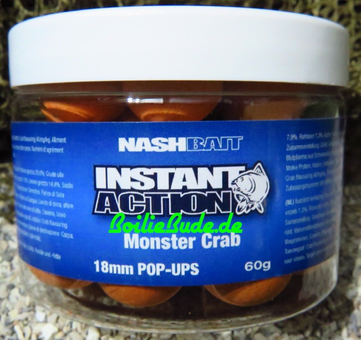 Nashbait Instant Action Monster Crab Pop Up´s 18mm, 60gr.
