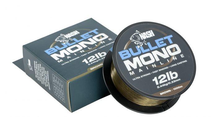 Nash Tackle Bullet Mono, 1000m Braun / 15lb