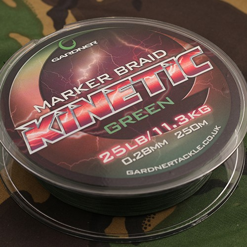 Gardner Tackle Kinetic Marker Braid 25lb , 0,28mm