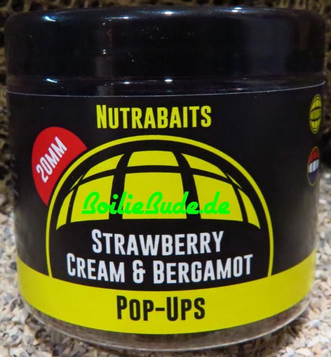 Nutrabaits Strawberry, Cream & Bergamot Pop Up´s 20mm