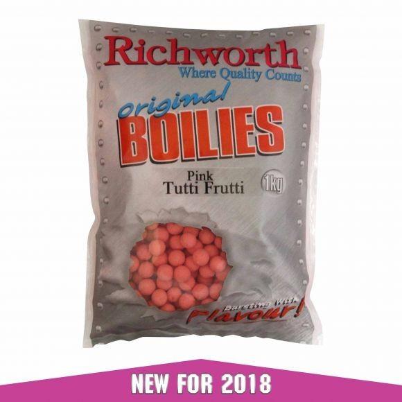 Richworth Pink Tutti Frutti Boilies 15mm / 1kg