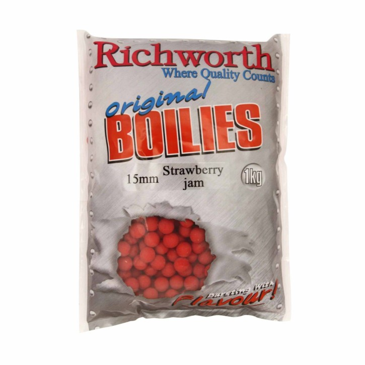 Richworth Strawberry Jam Boilies 15mm 1kg